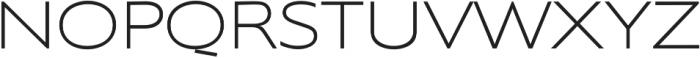 Supra XLightExtended otf (300) Font UPPERCASE