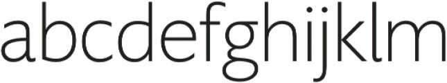 Supra XLightMezzo otf (300) Font LOWERCASE