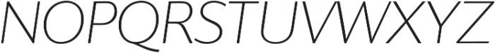 SupraClassic ThinItalic otf (100) Font UPPERCASE