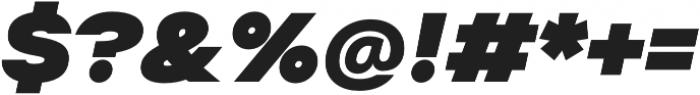Suprema Black Italic otf (900) Font OTHER CHARS