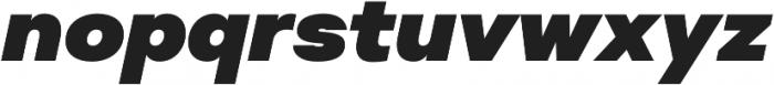 Suprema Black Italic otf (900) Font LOWERCASE