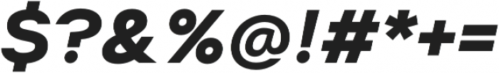 Suprema Bold Italic otf (700) Font OTHER CHARS