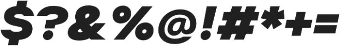 Suprema ExtraBold Italic otf (700) Font OTHER CHARS