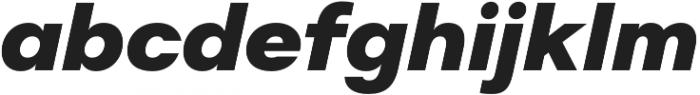 Suprema ExtraBold Italic otf (700) Font LOWERCASE