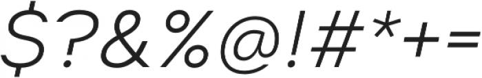 Suprema Light Italic otf (300) Font OTHER CHARS