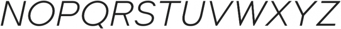 Suprema Light Italic otf (300) Font UPPERCASE