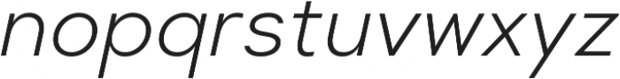 Suprema Light Italic otf (300) Font LOWERCASE