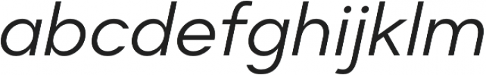 Suprema Regular Italic otf (400) Font LOWERCASE