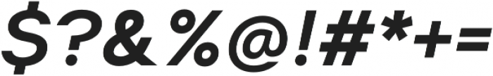 Suprema SemiBold Italic otf (600) Font OTHER CHARS
