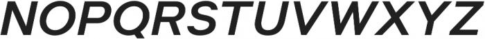 Suprema SemiBold Italic otf (600) Font UPPERCASE