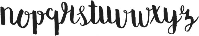 summter ttf (400) Font LOWERCASE