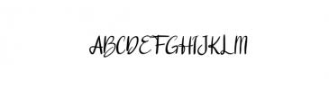 Sunday Font UPPERCASE