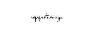 Sunday Font LOWERCASE