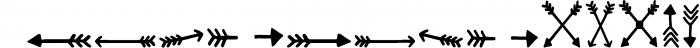 SUPER ARROW FONT Font UPPERCASE