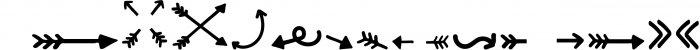 SUPER ARROW FONT Font LOWERCASE