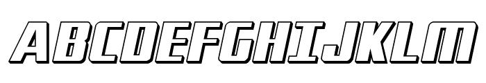 Subadai Baan 3D Italic Font UPPERCASE