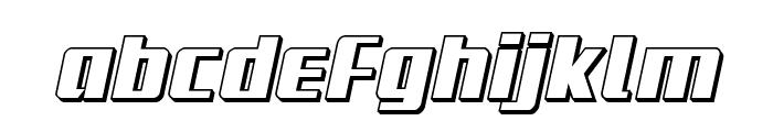 Subadai Baan 3D Italic Font LOWERCASE