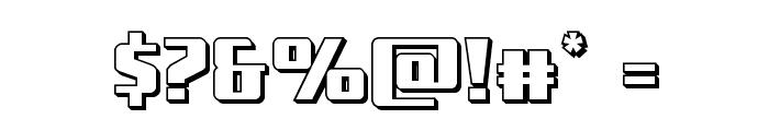 Subadai Baan 3D Font OTHER CHARS
