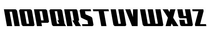 Subadai Baan Leftalic Font UPPERCASE