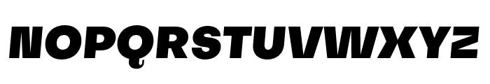 Subjectivity-BlackSlanted Font UPPERCASE