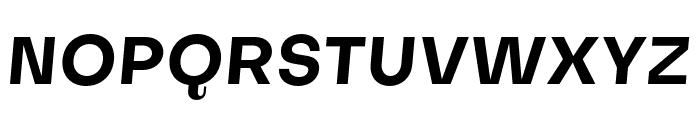 Subjectivity-BoldSlanted Font UPPERCASE