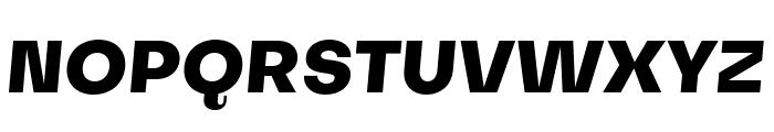 Subjectivity-ExtraBoldSlanted Font UPPERCASE