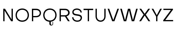 Subjectivity-Regular Font UPPERCASE