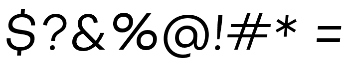 Subjectivity-RegularSlanted Font OTHER CHARS