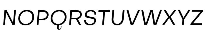 Subjectivity-RegularSlanted Font UPPERCASE
