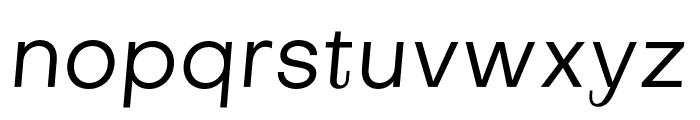 Subjectivity-RegularSlanted Font LOWERCASE