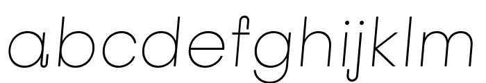Subjectivity-ThinSlanted Font LOWERCASE