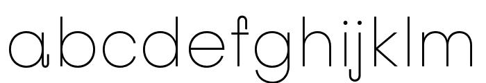 Subjectivity-Thin Font LOWERCASE