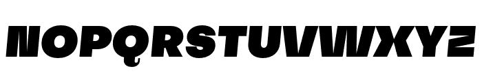 SubjectivitySerif-SuperSlanted Font UPPERCASE