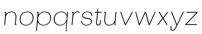 SubjectivitySerif-ThinSlanted Font LOWERCASE