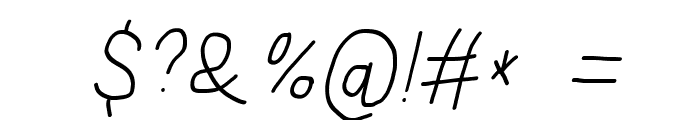 Subtitle Italic Font OTHER CHARS