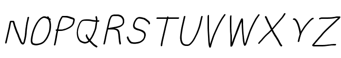 Subtitle Italic Font UPPERCASE