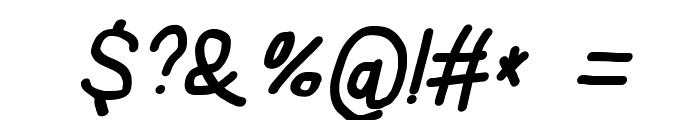 Subtitle Quirky Bold Italic Font OTHER CHARS