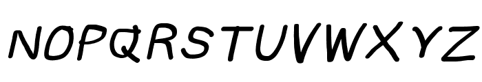 Subtitle Quirky Bold Italic Font UPPERCASE