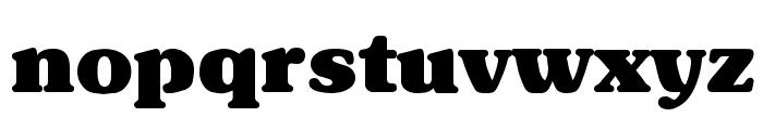 Subway Black Font LOWERCASE