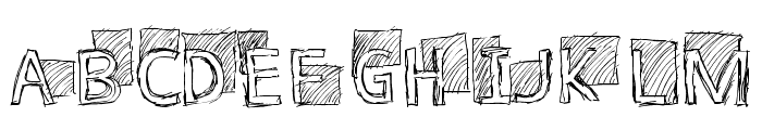 Subway Scribble Font UPPERCASE
