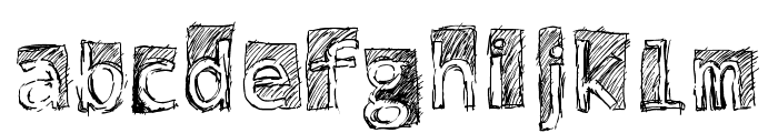 Subway Scribble Font LOWERCASE