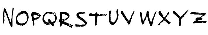 Sucked Dry Medium Font UPPERCASE