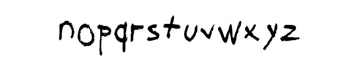 Sucked Dry Medium Font LOWERCASE