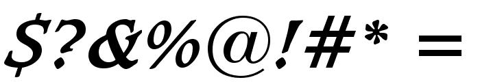 Sudbury Book Bold Italic Font OTHER CHARS