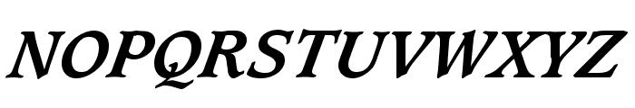 Sudbury Book Bold Italic Font UPPERCASE