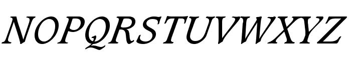 Sudbury Book Italic Font UPPERCASE