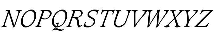 Sudbury Light Italic Font UPPERCASE