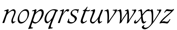 Sudbury Light Italic Font LOWERCASE