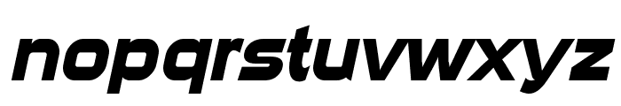 Sui Generis Bold Italic Font LOWERCASE