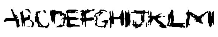 Suicide Font UPPERCASE